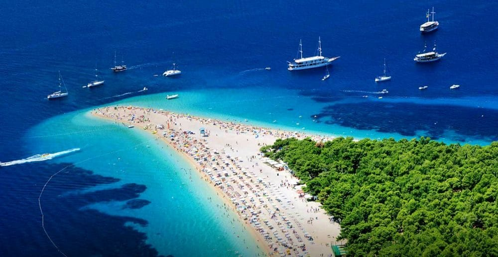 Split Beach Croatia - White Sands - Yachts